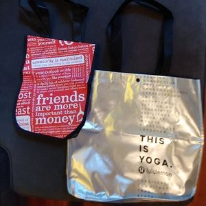 Set of Lululemon tote bags